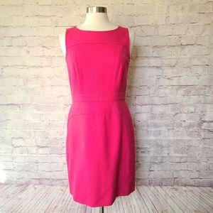LOFT Pink Sleeveless Career Shift Dress